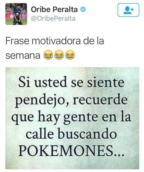 Oribe Peralta bromea con jugadores de Pokémon GO twitter