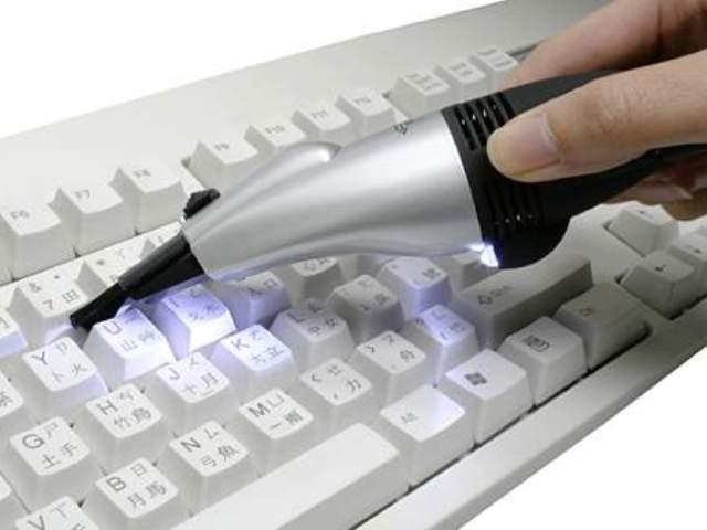 limpieza de la compuyadora teclado