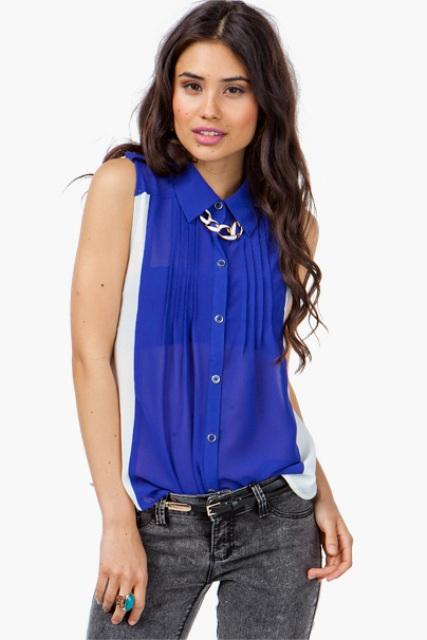 Cómo mejorar la autoestima con la ropa azul